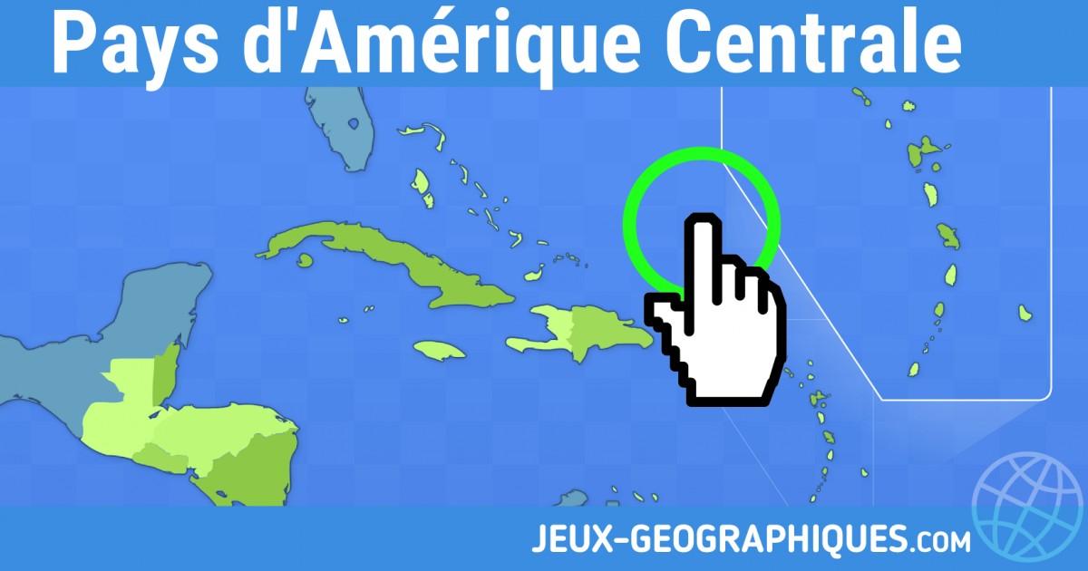Carte Interactive Amerique Centrale.Jeux Geographiques Com Jeux Gratuits Jeu Pays D Amerique