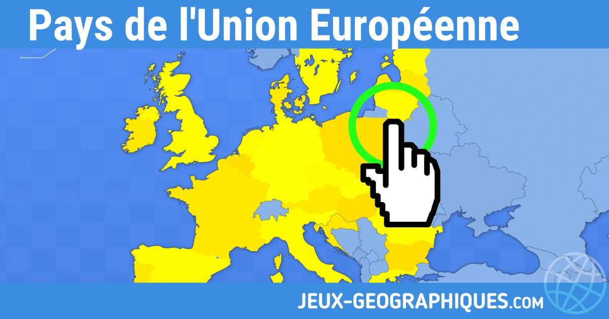 Carte De Leurope A Trou.Jeux Geographiques Com Jeux Gratuits Pays De L Union Europeenne