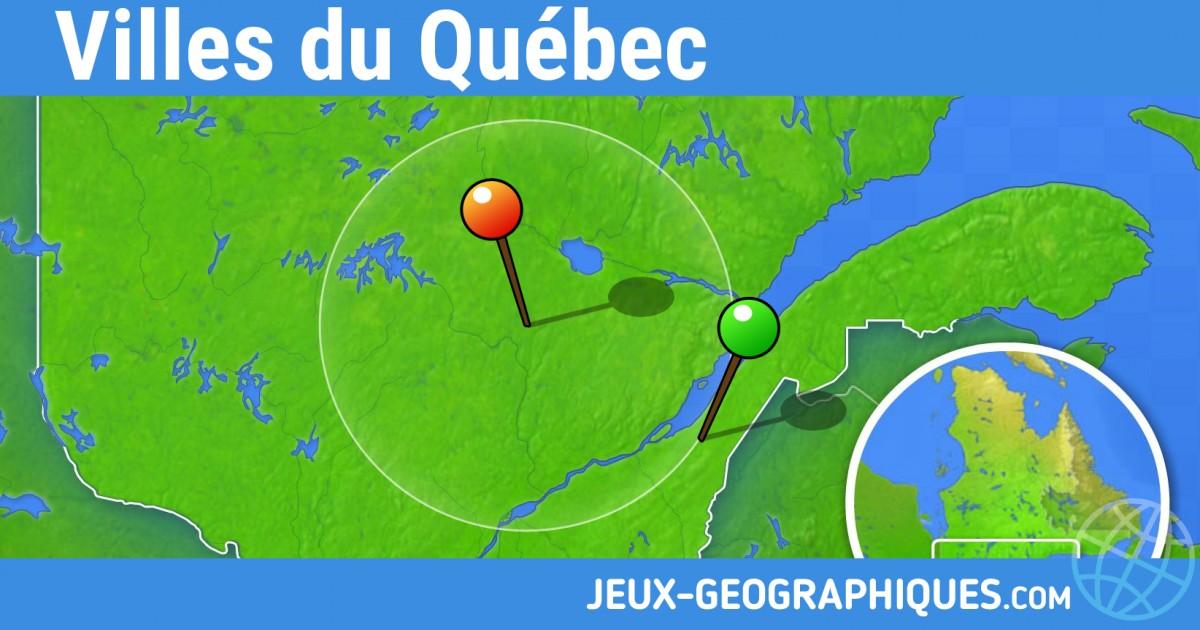 Assez jeux-geographiques.com jeux gratuits Jeu Villes du Quebec ID69